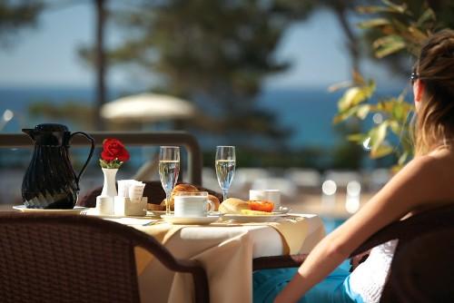 outside restaurant table