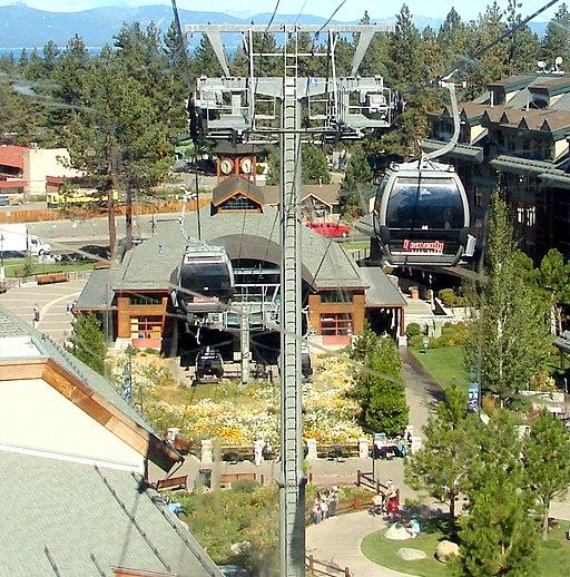 Heavenly resort gondolas