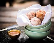 Cinnamon Sugar Dusted Old-Fashioned Doughnut Holes - Jack Rabbit Moon