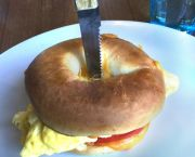 Skier's Daily – Egg & Cheese Bagel Sandwich   - Marty's Cafe