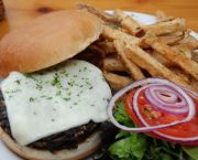 House Made Veggie Burger  - Austin's Restaurant Incline Village Lake Tahoe