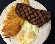 New York Steak and Eggs - Rosie's Cafe