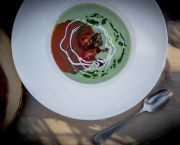 Gazpacho and Cucumber Buttermilk Soup - Jack Rabbit Moon