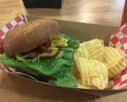 Vegan Burger - Tunnel Creek Cafe