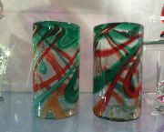 Blown Glass Holiday Tumblers - JoAnne's Stained Glass & Gallery