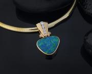 Big Hinged Opal Pendant - Steve Schmier's Jewelry