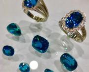 Blue Zircon Rings - Steve Schmier's Jewelry