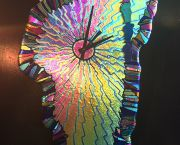 Lake Tahoe Glass Clock - JoAnne's Stained Glass & Gallery