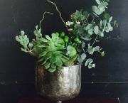 Succulents in Metallic Pottery - Enchanted Florist
