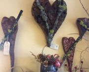Bark & Wood Hearts Wall Art - Enchanted Florist