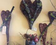 Bark & Wood Hearts Wall Art - Enchanted Florist