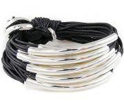 Sterling Silver Tube Bracelet - Sidestreet Boutique