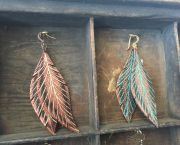 Bella Drops Leather Earings - Wildwood Makers Market