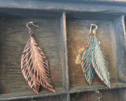 Bella Drops Leather Earings - Wildwood Makers Market