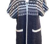 Camryn Geometric Design Open Front Sweater - Sidestreet Boutique