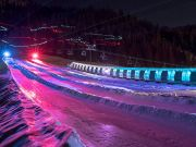 The Village at Squaw Valley, Disco Tubing with Santa
