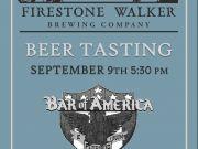 Bar of America, Firestone Walker Beer Tasting
