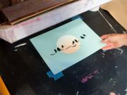Atelier, Multi-Color Screen Printing with Cut Stencils