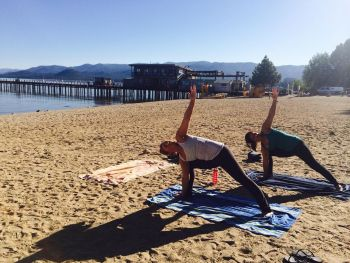 Tahoe Beach Retreat & Lodge, Beach Yoga at Beach Retreat