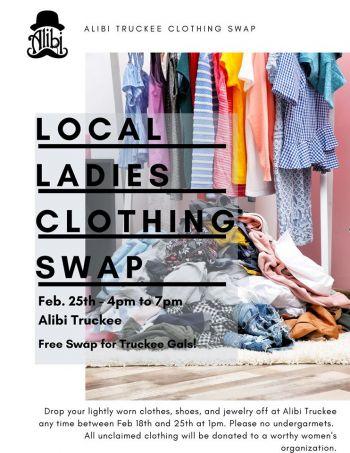 Alibi Ale Works, Ladies Clothing Swap! | Truckee Public House