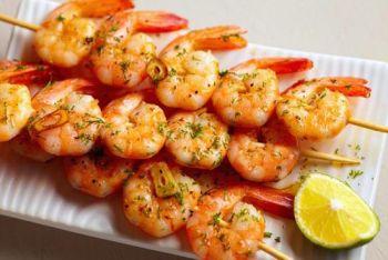Village Bar & Grill, Marinated Shrimp Skewers