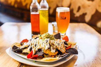 Lake Tahoe AleWorX Taproom, Beer cheese nachos