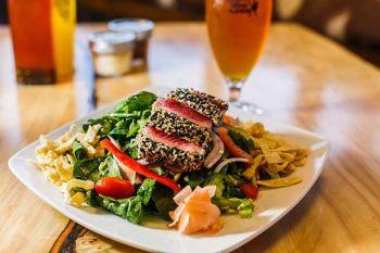 Lake Tahoe AleWorX Taproom, Ahi tuna salad