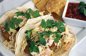 Alder Creek Cafe & Trailside Bar, Baja Style Beer Battered Cod Tacos