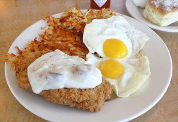 Rookie's Sports Bar & Grill, Chicken Fried Steak & Eggs