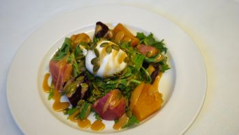 Alder Creek Cafe & Trailside Bar, Roasted Beet & Burrata Salad