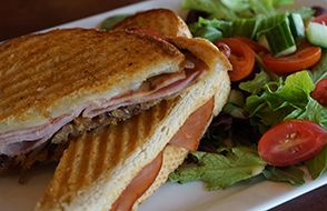 Alder Creek Cafe & Trailside Bar, Ham + Caramelized Onion Panini