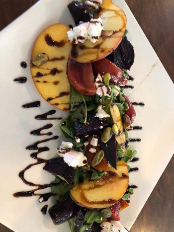 Whitecaps Pizza & Tap House, Summer Peach & Roasted Beet