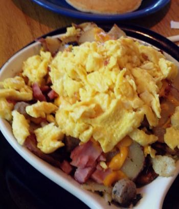 Welcome to Bear Beach Cafe, South Lake Tahoe, Papa Bear Skillet