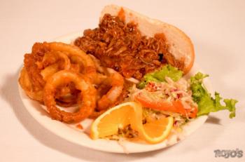 Rojo's Tavern, B.B.Q Pulled Pork Sandwich