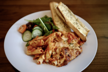 Trip Nosh, Baked Ziti with Classic Salad for Two