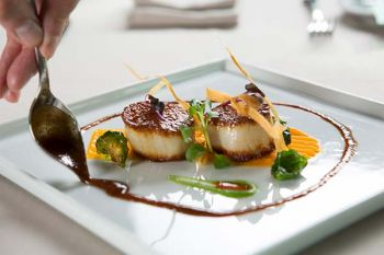 Edgewood Restaurant, Seared Diver Scallops