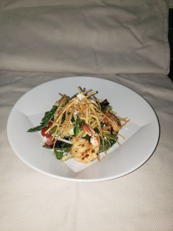 Brook's Bar & Deck, Gulf Shrimp Baby Kale Salad GF