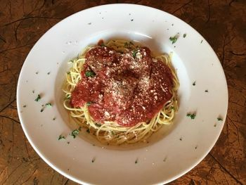Grand Central Pizza & Pasta, Spaghetti with Homemade Meatballs or Italian Sausage