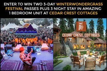 Winterwondergrass Festival Passes + Stay @ Cedar Crest Cottage