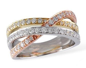 Bluestone Jewelry, Three Band Ring (Past, Present & Future)