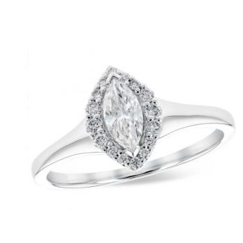 Bluestone Jewelry, Marquoise Cut Engagement Ring
