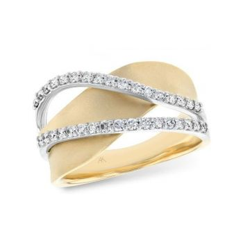 Bluestone Jewelry & Wine, Wave Ring in 14k Yellow Gold
