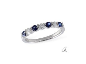 Bluestone Jewelry & Wine, Diamond and Sapphire ring