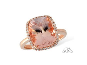 Bluestone Jewelry & Wine, Rose Gold Morganite Ring