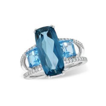 Bluestone Jewelry, Bluestone Collection Ring with Diamonds