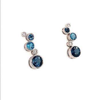 Bluestone Jewelry, Bluestone Collection Earrings Water Droplets