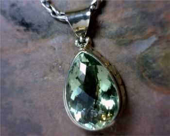 Bluestone Jewelry & Wine, Green Amethyst Pendant