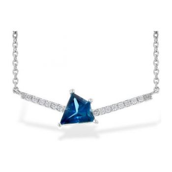 Bluestone Jewelry & Wine, Unique London Blue Topaz Necklace with Diamonds