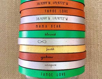GaiaLicious Boutique, Tahoe Themed Bracelets
