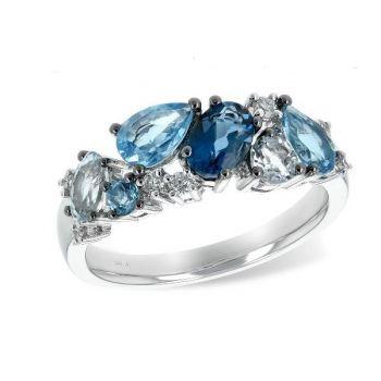 Bluestone Jewelry, Bluestone Collection Ring with Diamonds.
